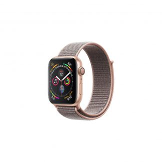apple watch 4 40mm gold aluminum case with pink sand sport loop