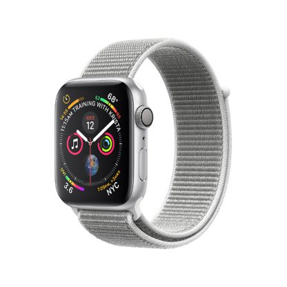 Apple Watch 4 44mm Silver Aluminum Case with Seashell Sport Loop