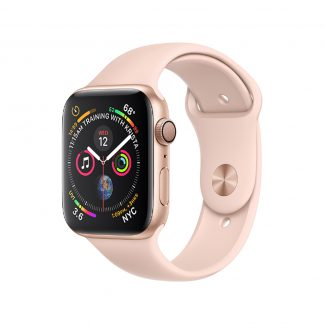 Apple Watch 4 44mm Gold Aluminum Case with Pink Sand Sport Band