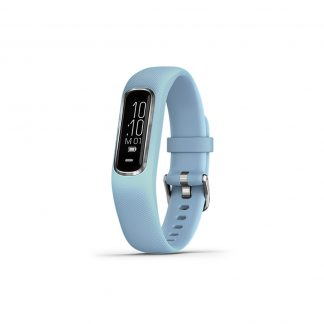 Garmin vivosmart 4 size M Silver with Azure Blue Band - Vòng Đeo Tay Theo Dõi Sức Khoẻ